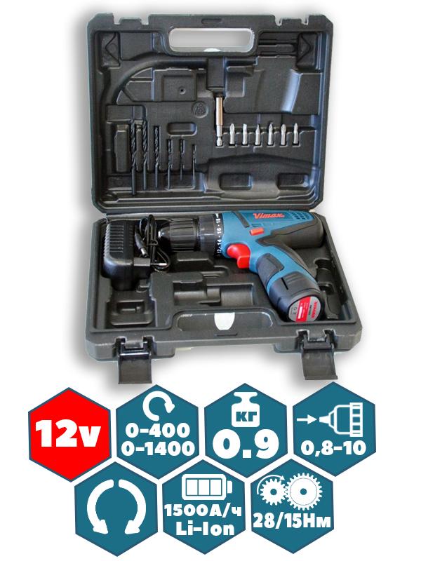 Аккумуляторный Шуруповёрт VIMAX DS-10/12V (1 Аккумулятор)