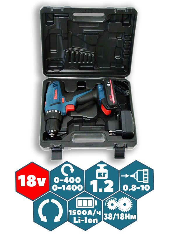 Аккумуляторный шуруповёрт VIMAX DS-10/20V (1 аккумулятор)